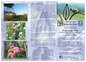 Bryngwyn Reflective Days page 1